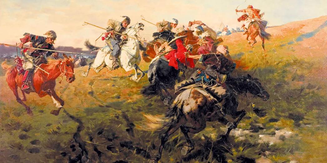 Бой казаков с татарами