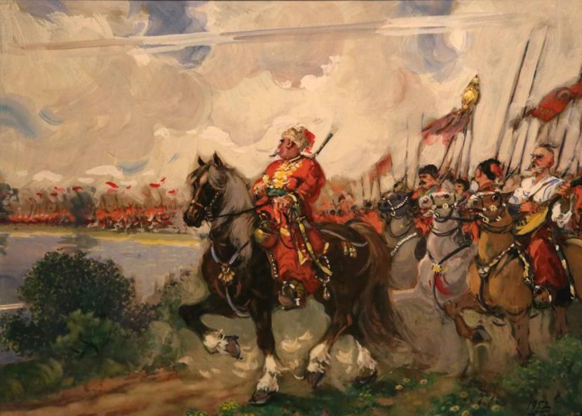Козаки идут по Польским землям.