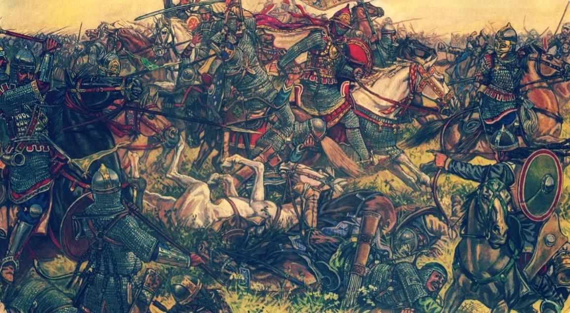 Первый бой закончился победой войск Русских князей.