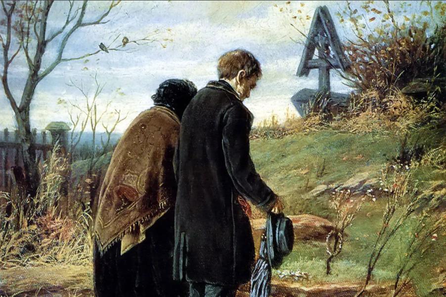 Родители на могиле Евгения